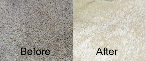Wool rug cleaning before and after