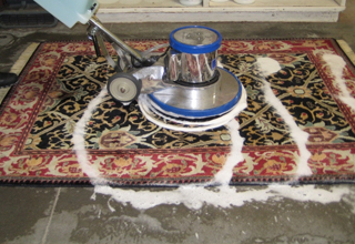 Tufted rug cleaning